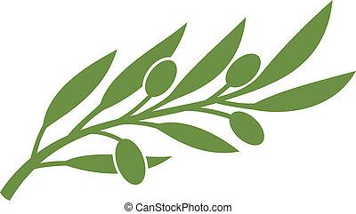 olajbogyó, symbol), (olive, elágazik