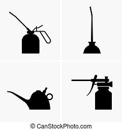olajozó, kilövell, konzervál