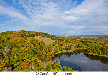 Olana State Historic Site. The home of Frederic Edwin Church in Hudson New York, USA.