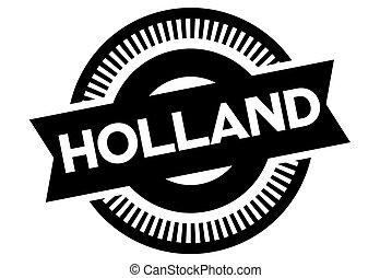 olanda, tipografico, francobollo