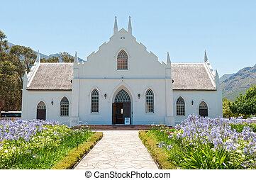 olandese, reformed, chiesa, franchoek