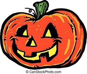 o'lantern, halloween, cric, citrouille