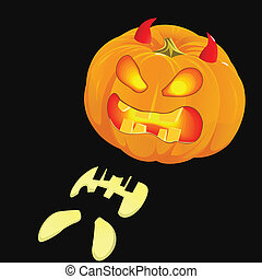 o'lantern, incandescent, halloween, cric, citrouille