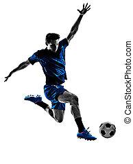 olasz, futball játékos, ember, árnykép