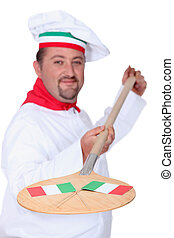 olasz, pizza, séf