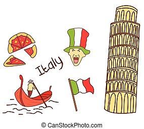 olaszország, cél, idegenforgalom, gyűjtés