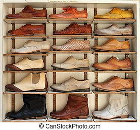 Balerina, cipők, megkorbácsol, bemutatás, piac, olasz.