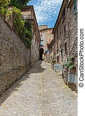 olaszország, utca, öreg