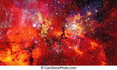 olbrzym, elementy, dostarczony, to, wizerunek, przestrzeń, nebula., tło., jarzący się, nasa