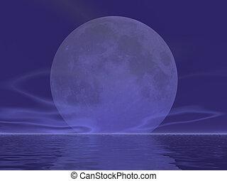 olbrzym, powstanie, księżyc