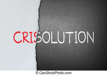 oldás, helyett, krízis