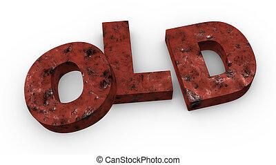 """old"", 単語"