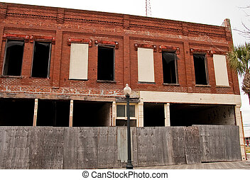 Old Abandoned Brick Building