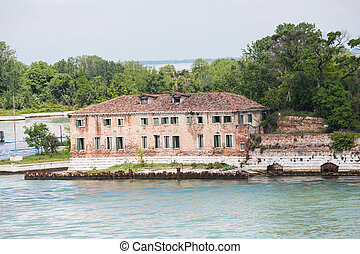 Old Abandoned Building on Venice Canal