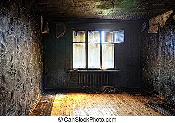 burned interior - old abandoned burned interior photo