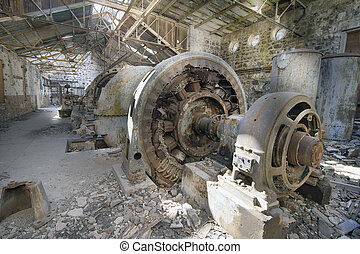 Old Abandoned Electric Powerhouse Station