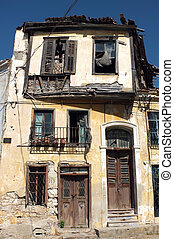 Old abandoned Greek house in Turkey