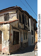 Old abandoned Greek houses in Turke
