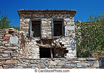 Old abandoned Greek/Turkish village of Doganbey, Turkey