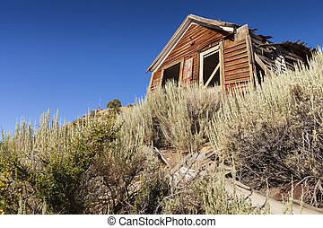 Old Abandoned home in Gold Hill Nevada, part of the comstock near Virginia City.