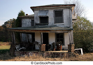 Old Abandoned House - An abandoned old house.