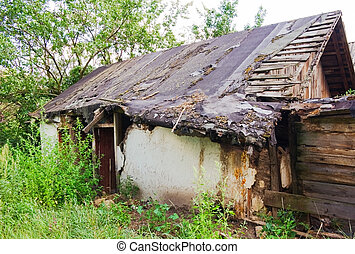 old abandoned house in the remote village