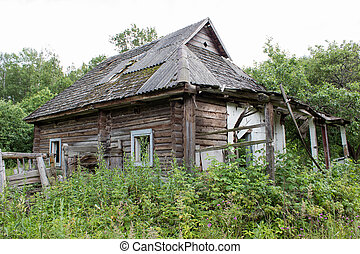 Old abandoned house in the village