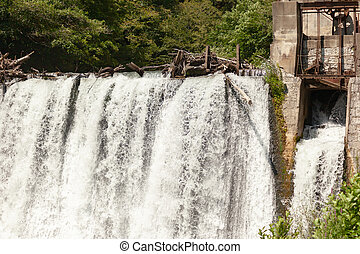 Old abandoned hydroelectric power plant