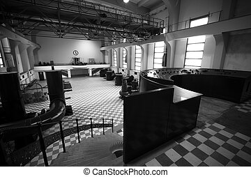 old abandoned industrial building empty interior