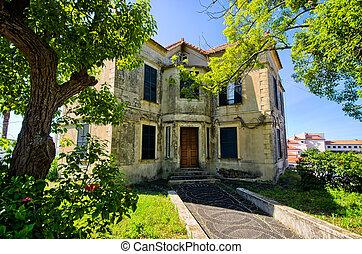 Old abandoned mansion on Madeira island