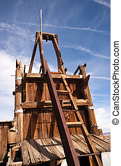 Old Abandoned Mine Shaft Western Desert Ghost Town - The...