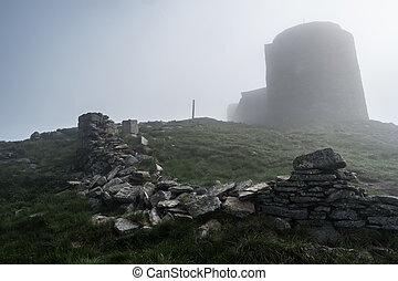 old abandoned observatory on mount Pip Ivan