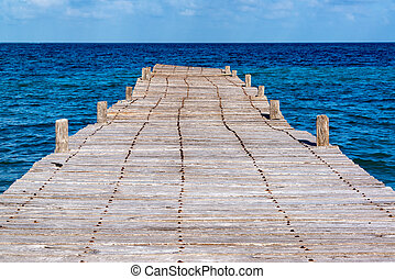 Old Abandoned Pier in Mexico