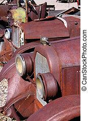 rusty classic cars