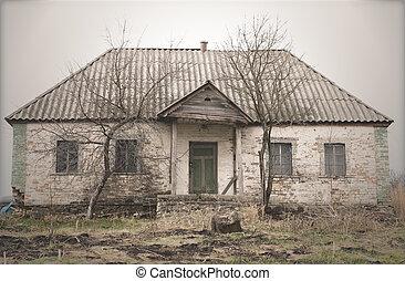 Old Abandoned Single Storey House