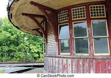 Old, abandoned train station