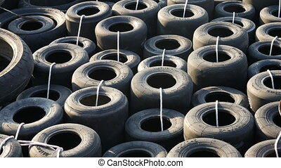 Old Abandoned Used Tires