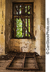 Old abandoned window