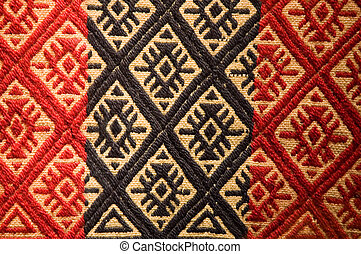 Old aboriginal tapestry from Argentina.