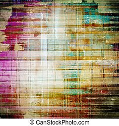 Old abstract grunge background, aged retro texture. With different color patterns: yellow (beige); brown; blue; purple (violet)