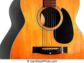 Old Acoustic Guitar - Acoustic Guitar in Sunlight