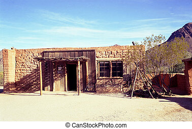 Old Adobe Building - Old south western style adobe building