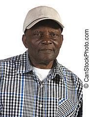 Old African American Man Wearing Hat - Portrait of elderly ...