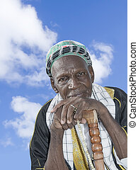 Old African man