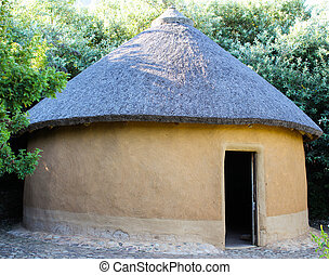 Old African Traditional Hut