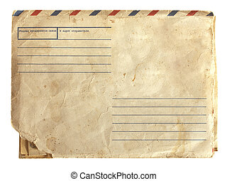 old air envelope with stamp