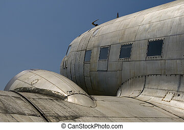 Old Aircraft - Douglas DC-3 (C-47) aircraft, taken from left...