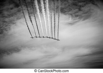 """Old airshow - The italian acrobatic jet squad named """"frecce..."""