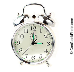 Alarm Clock isolated on white - Old Alarm Clock isolated on...