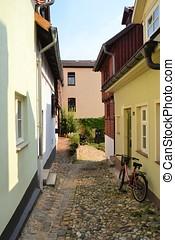 old alley in Quedlinburg